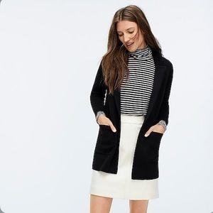 J crew Sophie open front sweater blazer j0244 blac